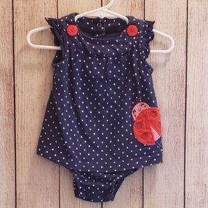 Baby Girl Ladybug Romper
